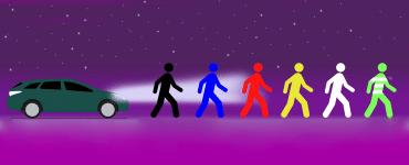 П'ятка для пішоходів: який одяг безпечно носити ввечері?